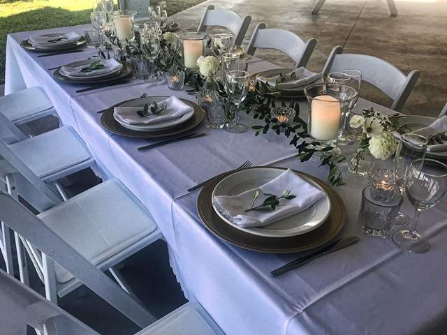 Beautifully set & decorated tables